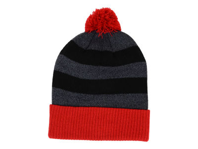LIDS Private Label PL Heathered Stripe Cuffed Knit w/ Pom