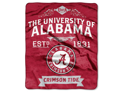 Alabama Crimson Tide 50x60in Plush Throw Team Spirit