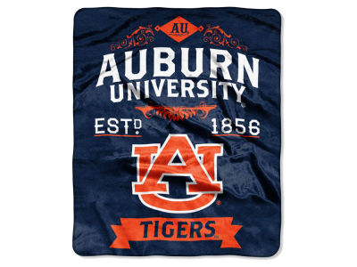 Auburn Tigers 50x60in Plush Throw Team Spirit