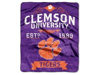 Clemson Tigers 50x60in Plush Throw Team Spirit