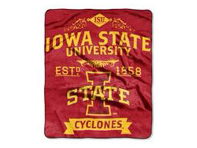 Iowa State Cyclones 50x60in Plush Throw Team Spirit