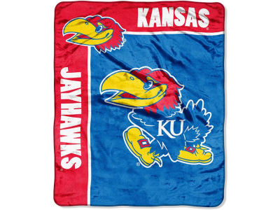 Kansas Jayhawks 50x60in Plush Throw Team Spirit