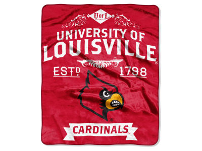 Louisville Cardinals 50x60in Plush Throw Team Spirit