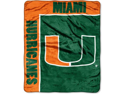 Miami Hurricanes 50x60in Plush Throw Team Spirit