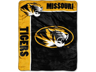 Missouri Tigers 50x60in Plush Throw Team Spirit