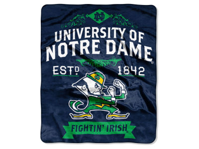 Notre Dame Fighting Irish 50x60in Plush Throw Team Spirit