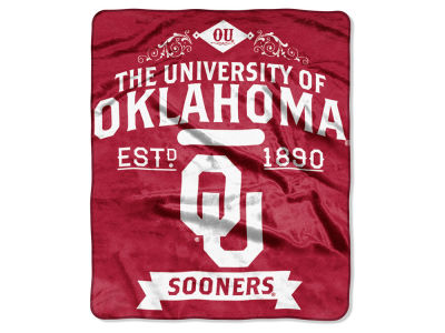 Oklahoma Sooners 50x60in Plush Throw Team Spirit