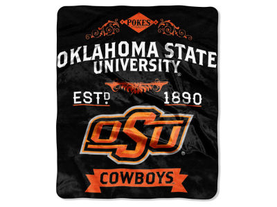Oklahoma State Cowboys 50x60in Plush Throw Team Spirit