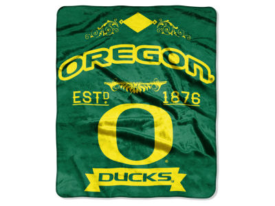 Oregon Ducks 50x60in Plush Throw Team Spirit