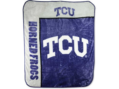 Texas Christian Horned Frogs 50x60in Plush Throw Team Spirit