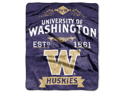 Washington Huskies 50x60in Plush Throw Team Spirit