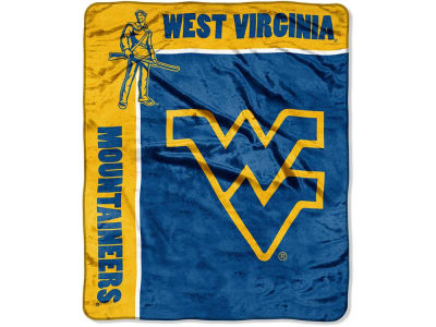 West Virginia Mountaineers 50x60in Plush Throw Team Spirit