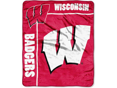 Wisconsin Badgers 50x60in Plush Throw Team Spirit
