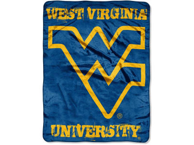 West Virginia Mountaineers Micro Raschel 46x60 Grunge