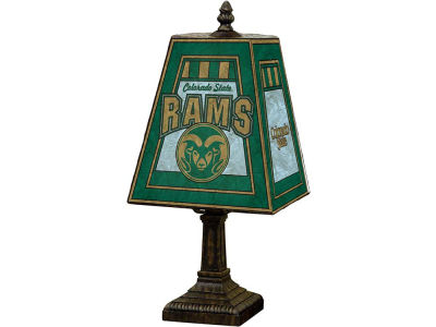 Colorado State Rams Art Glass Table Lamp
