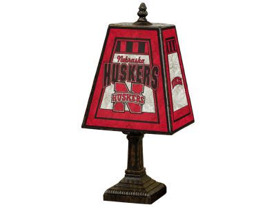 Nebraska Cornhuskers Art Glass Table Lamp