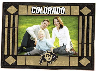 Colorado Buffaloes Art Glass Picture Frame