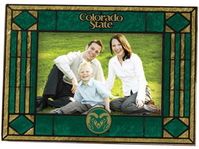 Colorado State Rams Art Glass Picture Frame
