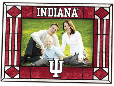 Indiana Hoosiers Art Glass Picture Frame