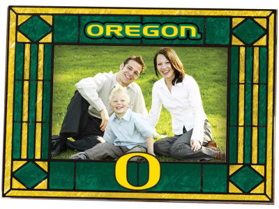 Oregon Ducks Art Glass Picture Frame