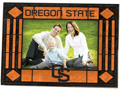 Oregon State Beavers Art Glass Picture Frame