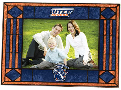 UTEP Miners Art Glass Picture Frame