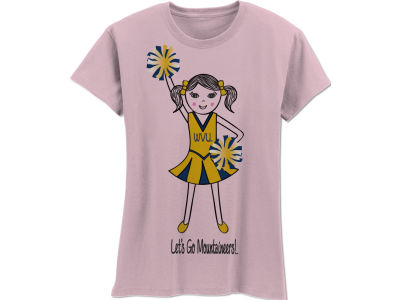 West Virginia Mountaineers NCAA Girls MYU Cheer T-Shirt