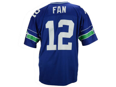 Seattle Seahawks Fan #12 Mitchell and Ness NFL Replica Throwback Jersey