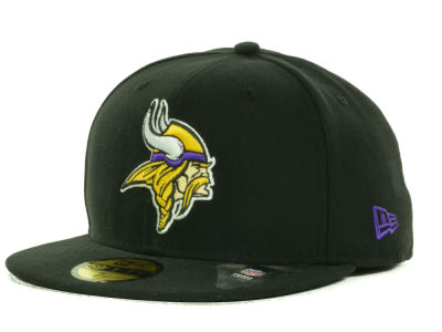 Minnesota Vikings New Era NFL Black Team 59FIFTY Cap