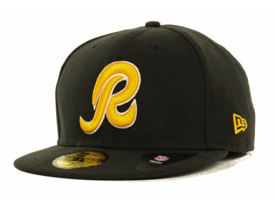 Washington Redskins New Era NFL Black Team 59FIFTY Cap