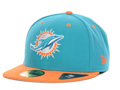 Miami Dolphins New Era NFL 2 Tone 59FIFTY Cap