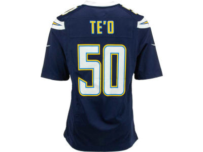 Los Angeles Chargers Manti Te'o Nike NFL Men's Game Jersey