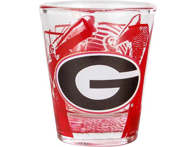 Georgia Bulldogs 3D Wrap Color Collector Glass