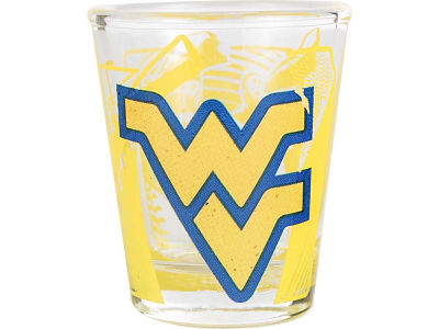 West Virginia Mountaineers 3D Wrap Color Collector Glass