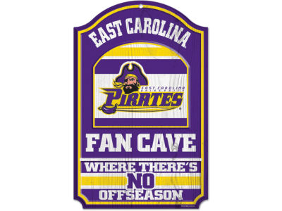 East Carolina Pirates 11x17 Wood Sign
