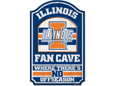 Illinois Fighting Illini 11x17 Wood Sign