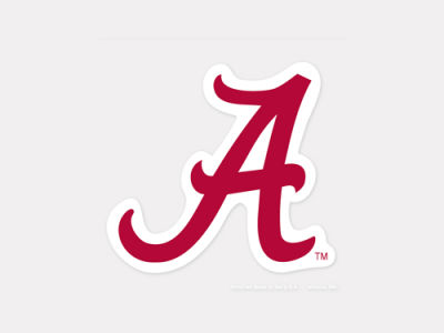 Alabama Crimson Tide 4x4 Die Cut Decal Color