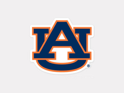 Auburn Tigers 4x4 Die Cut Decal Color
