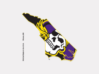 East Carolina Pirates 4x4 Die Cut Decal Color