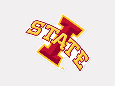 Iowa State Cyclones 4x4 Die Cut Decal Color