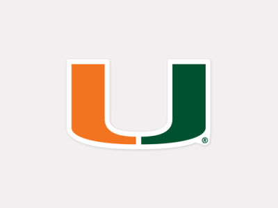 Miami Hurricanes 4x4 Die Cut Decal Color