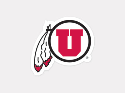 Utah Utes 4x4 Die Cut Decal Color