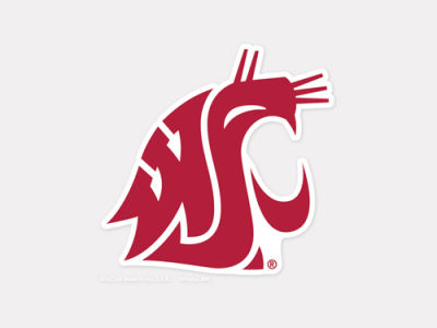 Washington State Cougars 4x4 Die Cut Decal Color
