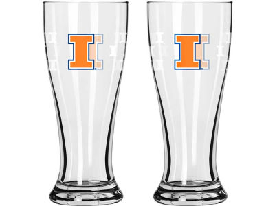 Illinois Fighting Illini Satin Etch Mini Pilsner