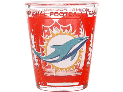 Miami Dolphins 3D Wrap Color Collector Glass