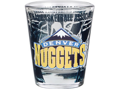 Denver Nuggets 3D Wrap Color Collector Glass