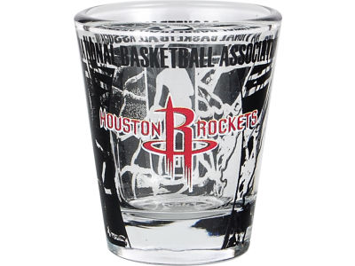 Houston Rockets 3D Wrap Color Collector Glass