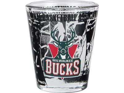 Milwaukee Bucks 3D Wrap Color Collector Glass