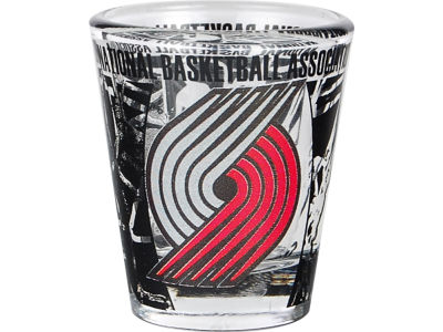 Portland Trail Blazers 3D Wrap Color Collector Glass