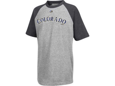 Colorado Rockies Majestic MLB Youth Big Leaguer Raglan T-Shirt